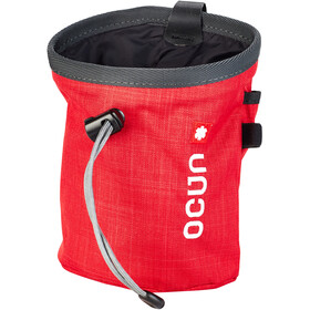 Ocun Push + Belt Bolsa de tiza, red/grey